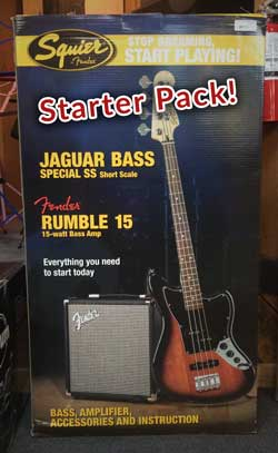 Fender-Bass Guitar Starter Pack
